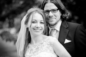 Brautpaar in Schwarzweiss