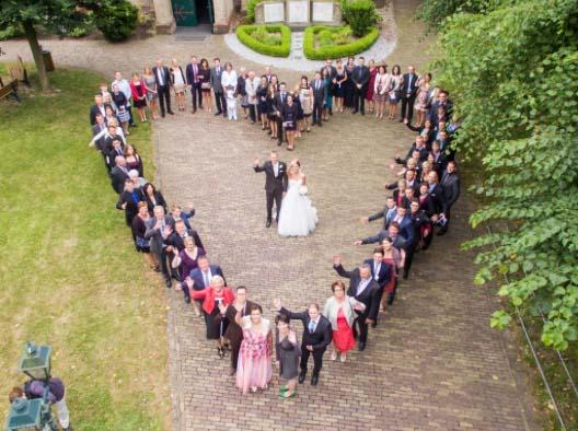Drone Hochzeit Herz